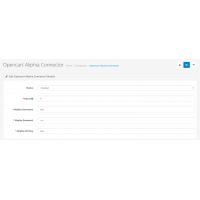 Opencart Aliphia Connector