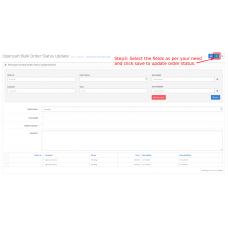 Opencart Bulk Order Status Update